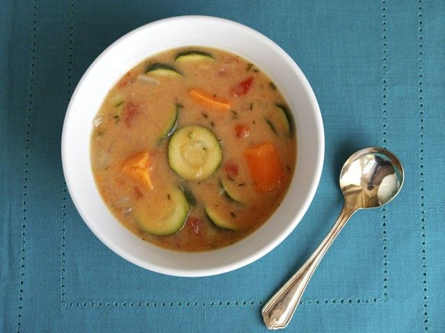 Autumn Sweet Potato Soup #healthy #vegan #recipe--sub almond butter ...