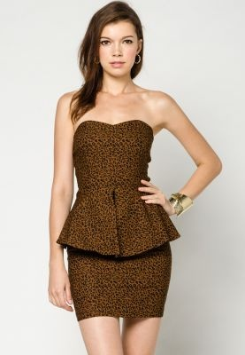 Leopard printed tube dress 34 90 christmas gift guide for her