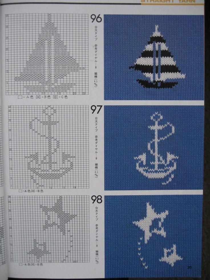 Вязание спицам морской рисунок