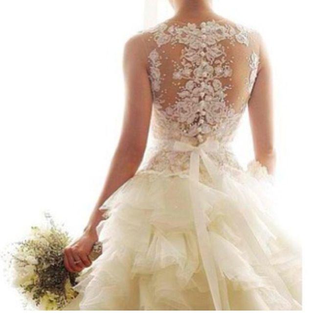 Blinged out back blinged out wedding dresses pinterest for Blinged out wedding dress