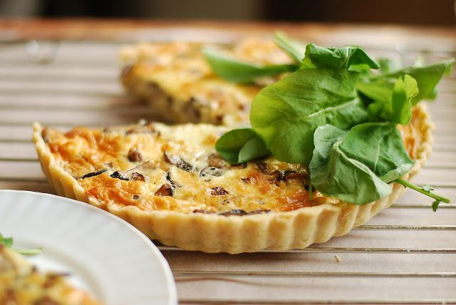 Caramelized Onion and Mushroom Quiche   Yummy-ness (Main Course)   Pi ...