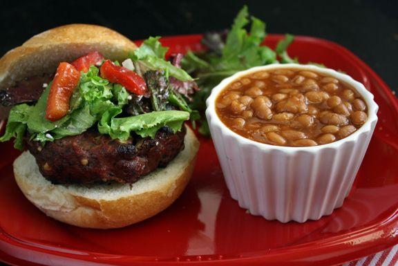 Greek Feta Burger from @Wendy Hondroulis | yummy | Pinterest
