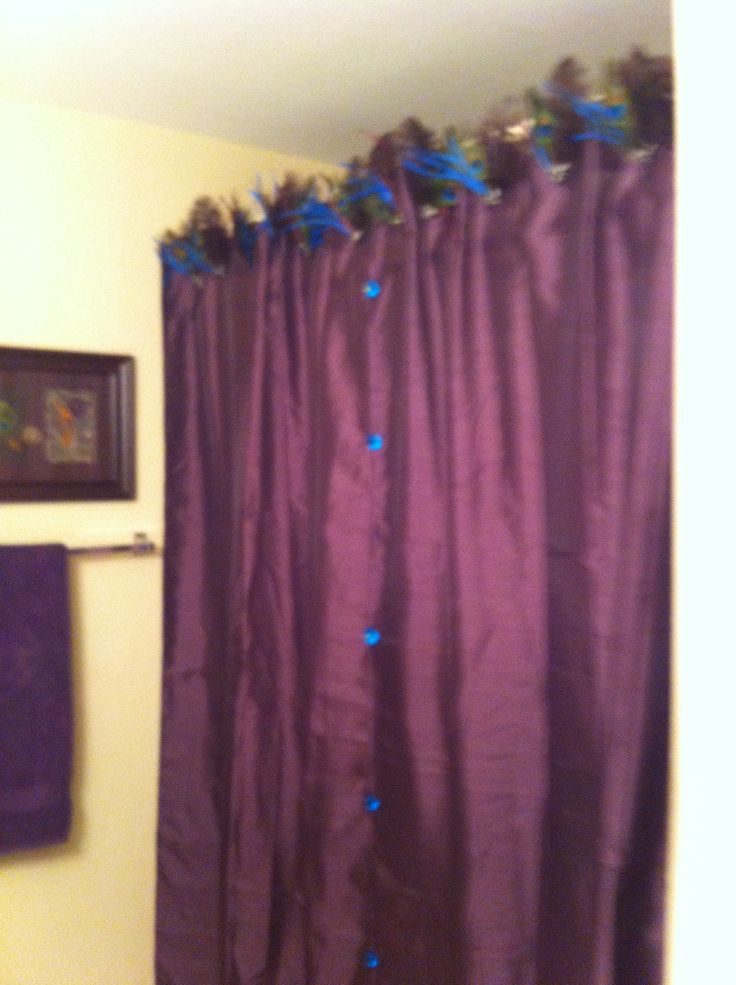 peacock shower curtain home is where i drop my purse pinterest