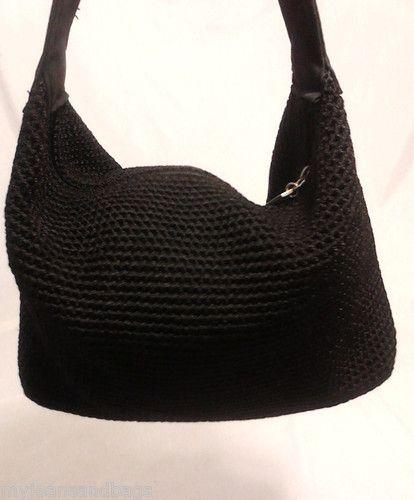 The Sak Black Crochet Handbag : The Sak Crotchet Handbag Purse in Black Designer Bags, Handbags & P ...