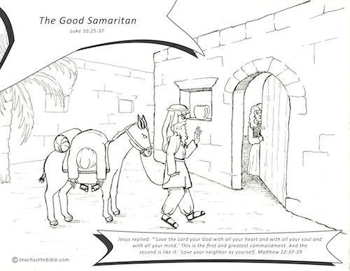 good samaritan - Good Samaritan Coloring Pages