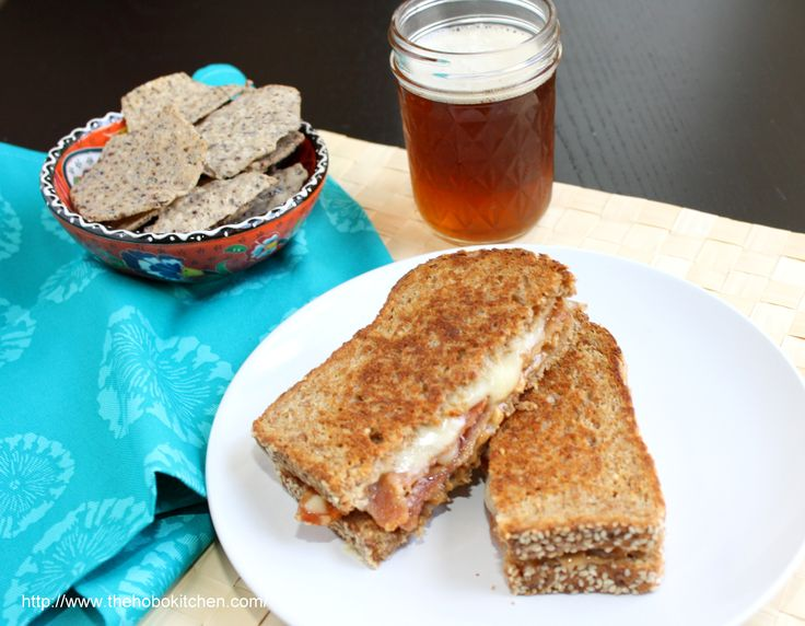 Peanut Butter Bacon Grilled Cheese
