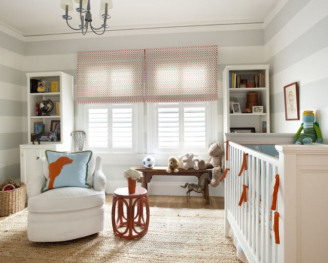 boy nursery ideas | Aqua Blue and Orange Baby Boy Nursery Ideas | Inspired Home Designs