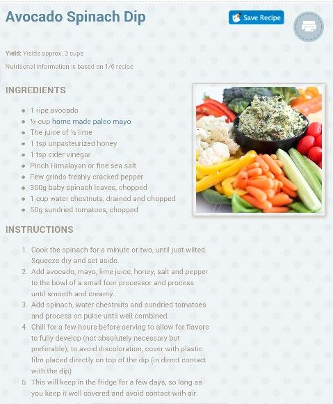 Avocado Spinach Dip. | Cooking tips & some recipes | Pinterest