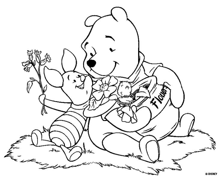 Holiday winnie the pooh coloring pages