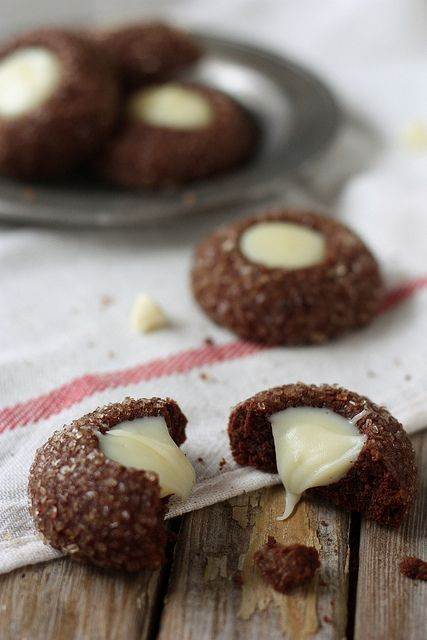 Chocolate Mint Thumbprint Cookies by Completely Delicious