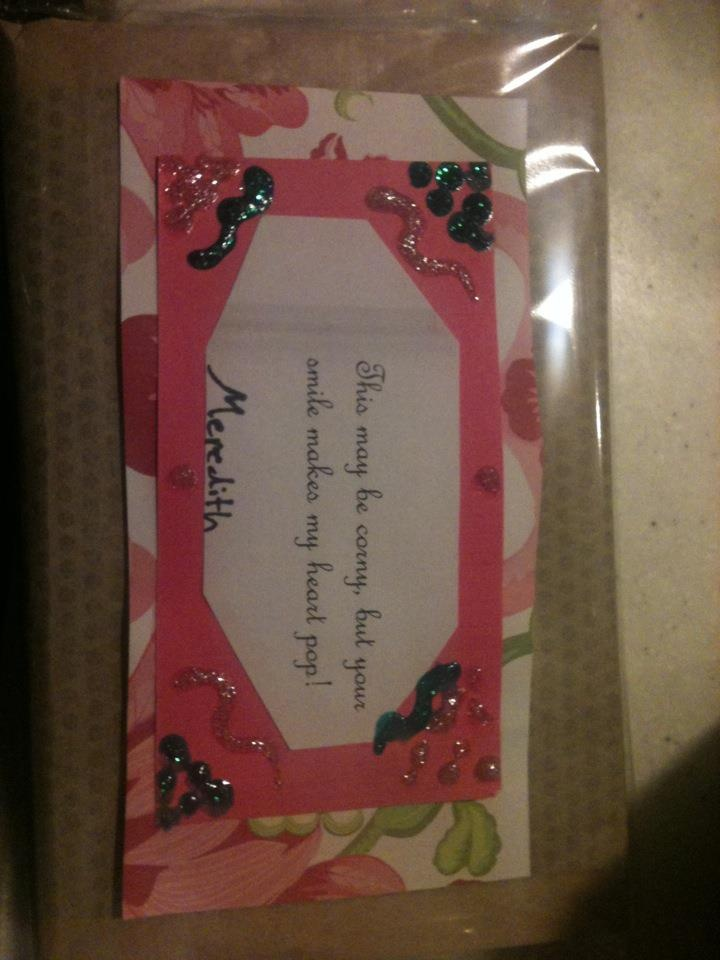 instead of candy, we gave microwave popcorn and taped a greeting ...