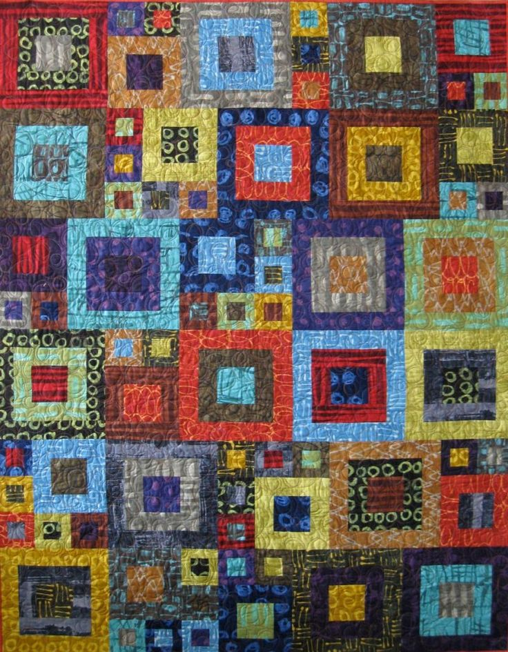 Quilt Patterns With 3 Fabrics : Marcia Derse quilt 3 - Do Si Do Arty Pinterest