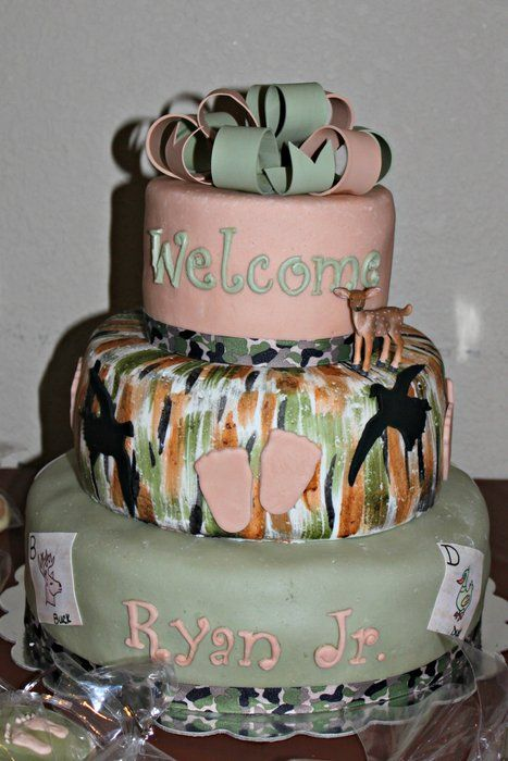 camo themed baby shower cake baby shower and gender reveal cakes an
