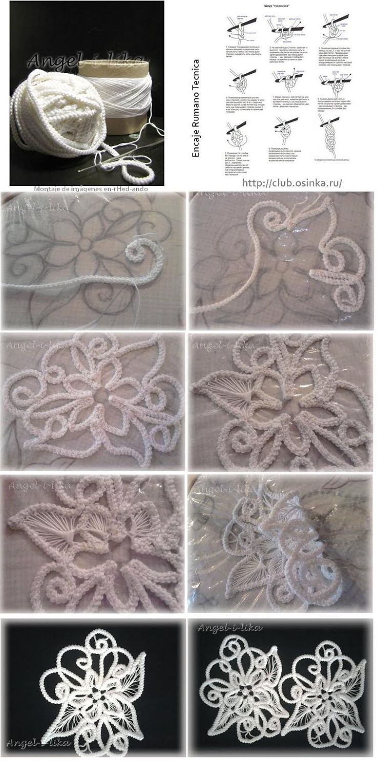 CROCHET - Romanian Point Lace Tutorial & Patterns.