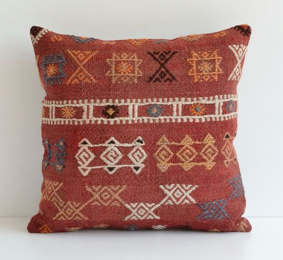 Kilim Cushion Cover - Indoor Outdoor Decorative Throw Floor Pillow Cu?