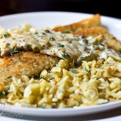 Trout Schnitzel with Mustard Caper Cream Sauce and a Pan-Seared ...