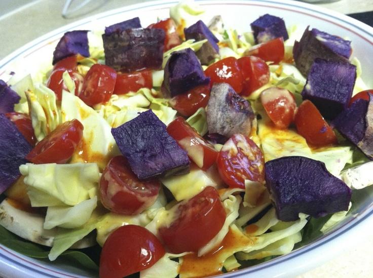 Purple Sweet Potato Salad | Eat Move Balance | Pinterest
