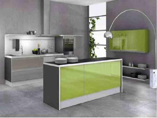 interieur maison moderne cuisine verte  Interieur  Pinterest