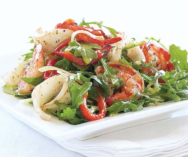 Grilled Shrimp & Calamari Salad with Arugula & Orange Vinaigrette | R...