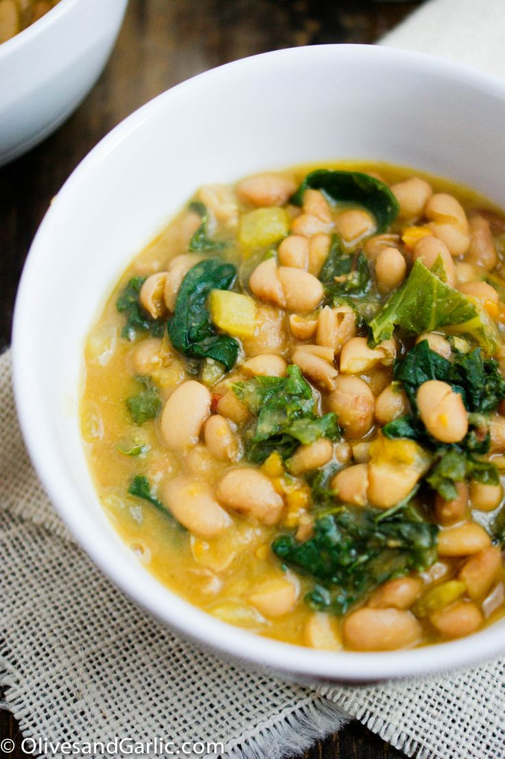 Kale & Bean Stew | Olives & Garlic - you can use canned beans instead...