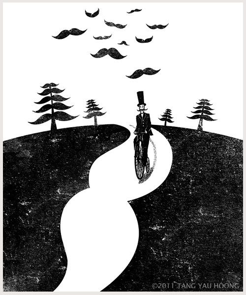The Art of Negative Space. by Tang Yau Hoong, via Behance