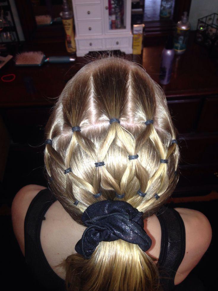 Gymnastics hairstyle Hairstyles Pinterest