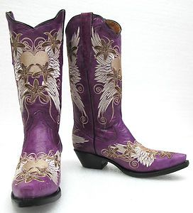 Fashion Cowgirl Boots for Women   Women's Leather Fashion Embroidered