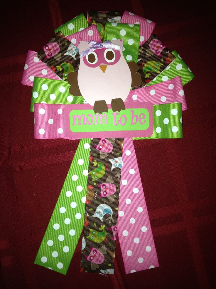owl baby shower corsage my homemade projects pinterest