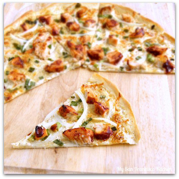 Thin-Crust BBQ Chicken Pizza | dessert menu | Pinterest
