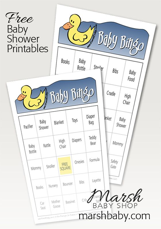 baby shower bingo free printable party ideas pinterest
