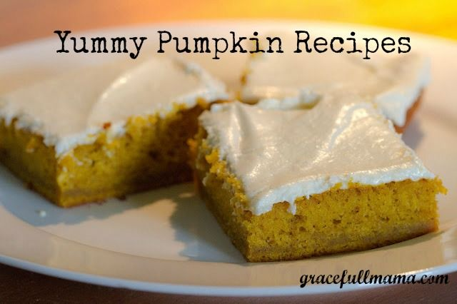 Yummy Pumpkin Recipes