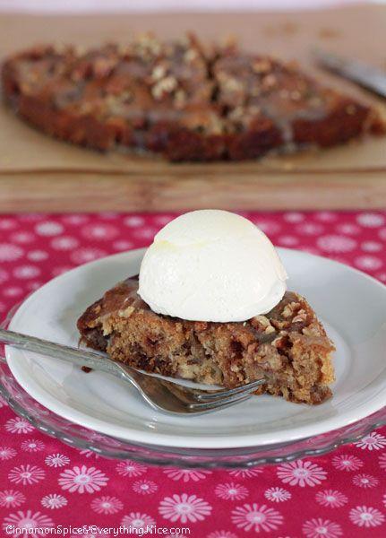 Caramel Glazed Apple Cake Recipe — Dishmaps