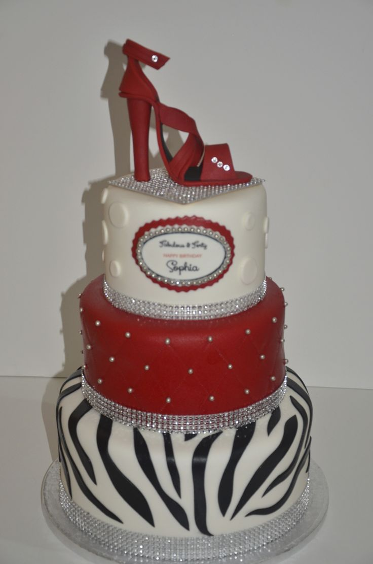 Images Of Red Birthday Cake : Red Shoe Cake BIRTHDAY GIRL Pinterest