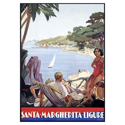 Santa Margherita Portofino Ligure, Vintage Poster Poster