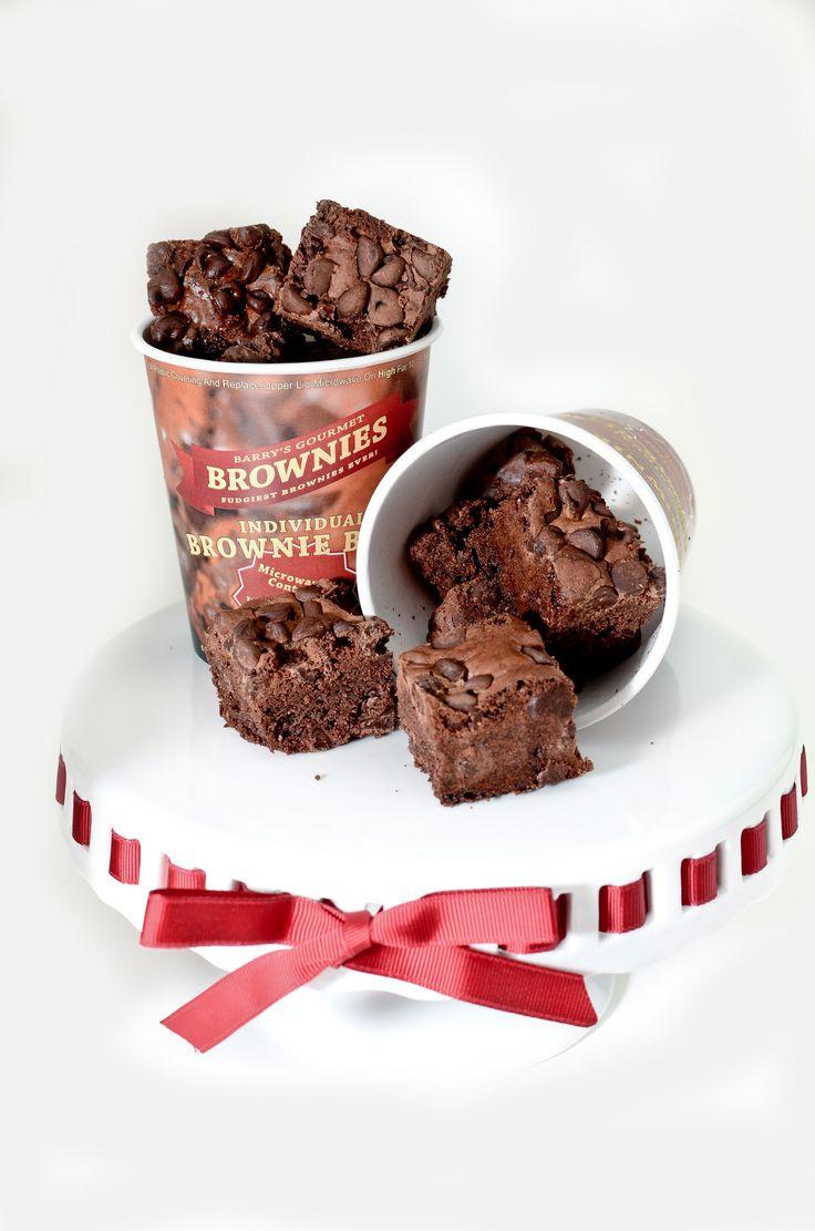 Double Chocolate Chunk Individual Brownie Bites Cup