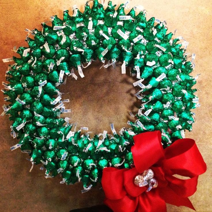 Hershey Kisses Wreath