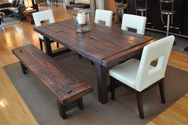 Dining Table With Upholstered Bench White X Back Dining Chairsg ...