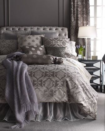 Gray and lilac bed favorite rooms amp spaces pinterest