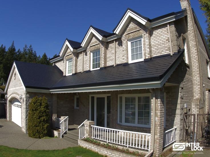 Pin by interlock metal roofing on interlock slate roofing - Black metal roof pictures ...