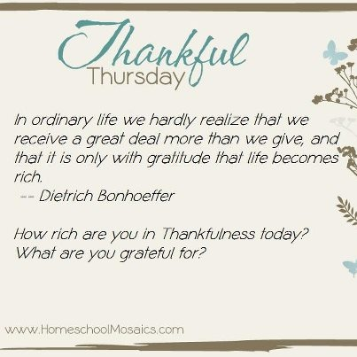Thankful Thursday September 2012