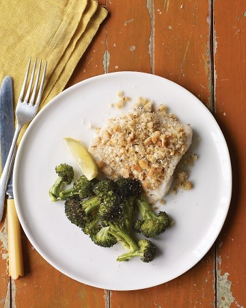 ... bread crumbs with mixed herbs. Baked Fish with Herbed Breadcrumbs and