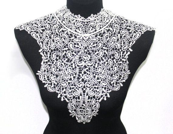 White Lace Crochet Handmade Collar for Shirt Blouse Dress ...