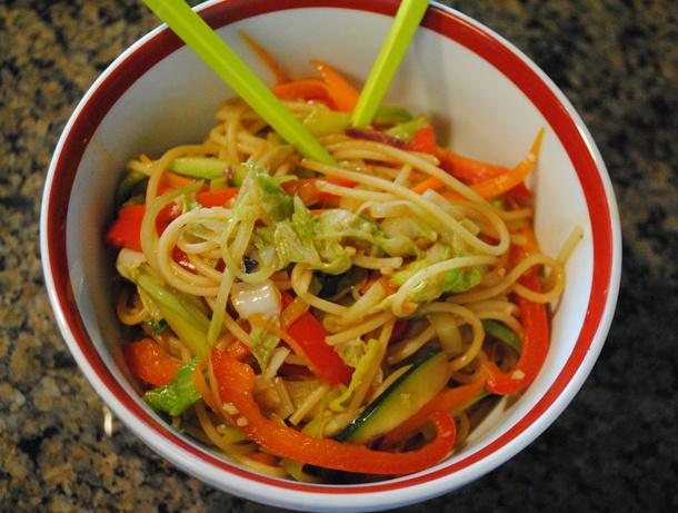 Spicy Ginger Garlic Noodle Bowl