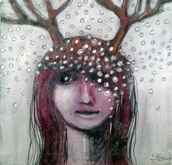 Original Sheila Cameron painting These Antlers by SheilaCameron,