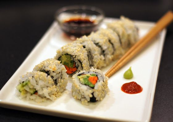 Sutton Grace: vegetable sushi roll | Yummy!! | Pinterest