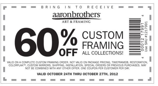 Aaron Brothers Coupons