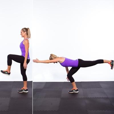 Try the t-reach #exercise instead of lunges to sculpt a firm butt
