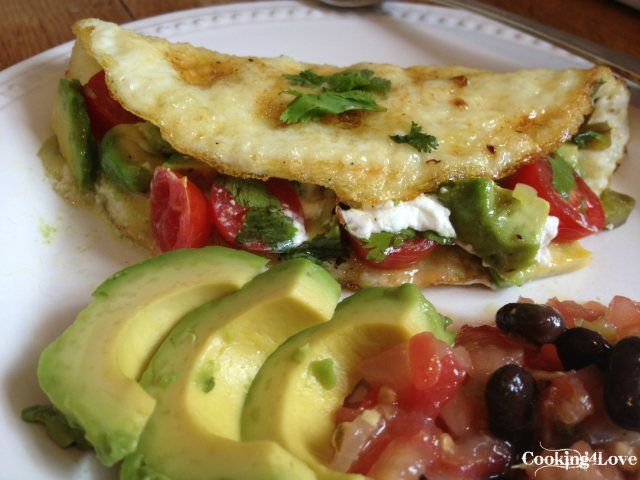 Mexican Egg White Omelet w/Goat Cheese | All Things Food! | Pinterest