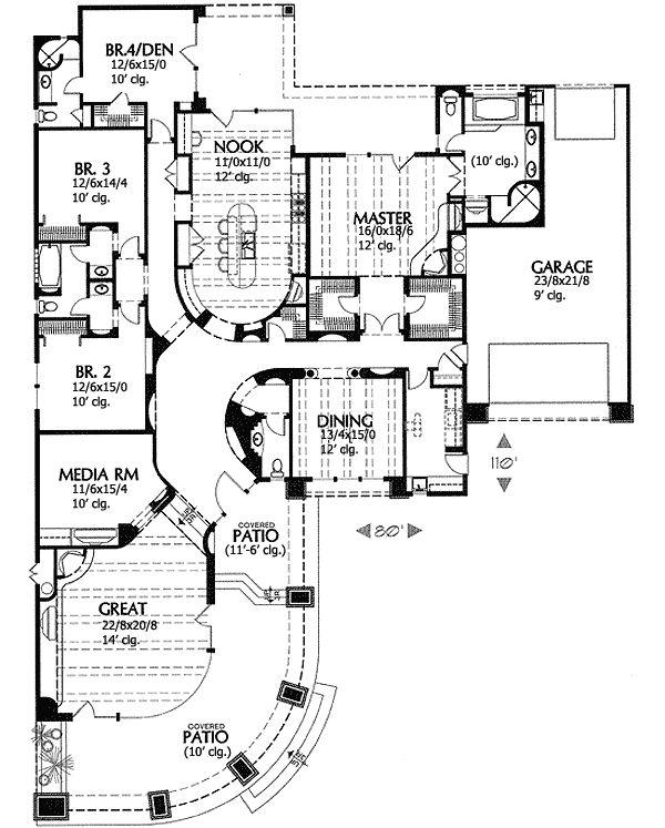 Contemporary Southwestern Home Plan