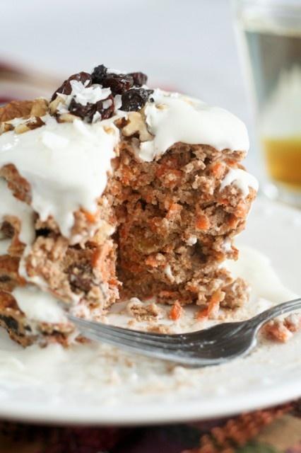 Carrot Pancake (coconut flour, egg whites, carrots, walnuts, raisins ...